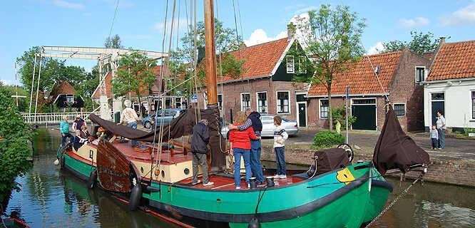Canal boat, Edam, Netherlands