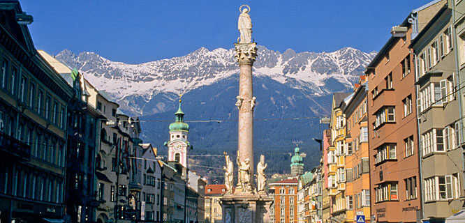 St. Anne's Column and Maria-Theresien-Strasse, Innsbruck, Austria