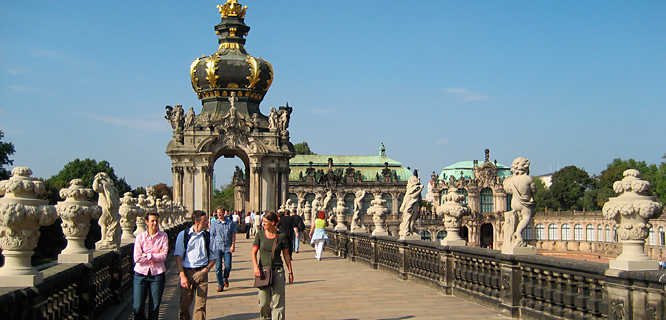 Crown Gate, Zwinger palace, Dresden, Germany