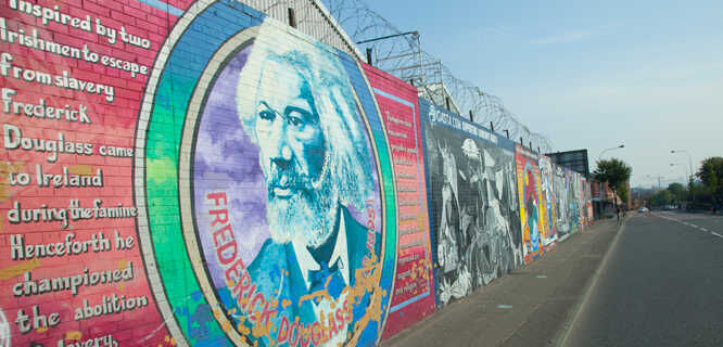 Falls Road murals, Belfast, Northern Ireland