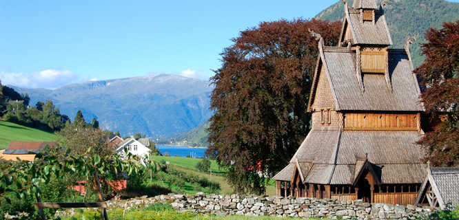 Hopperstad Stave Church, near Balestrand, Norway