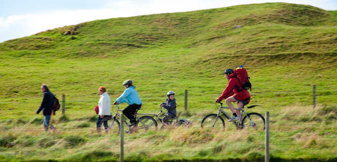 Biking on the Isle of Iona, Scotland