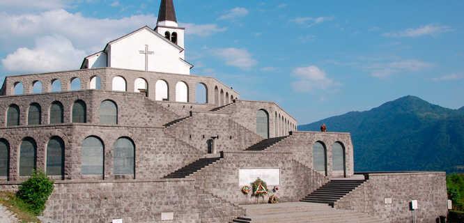 Italian Mausoleum, near Kobarid, Slovenia