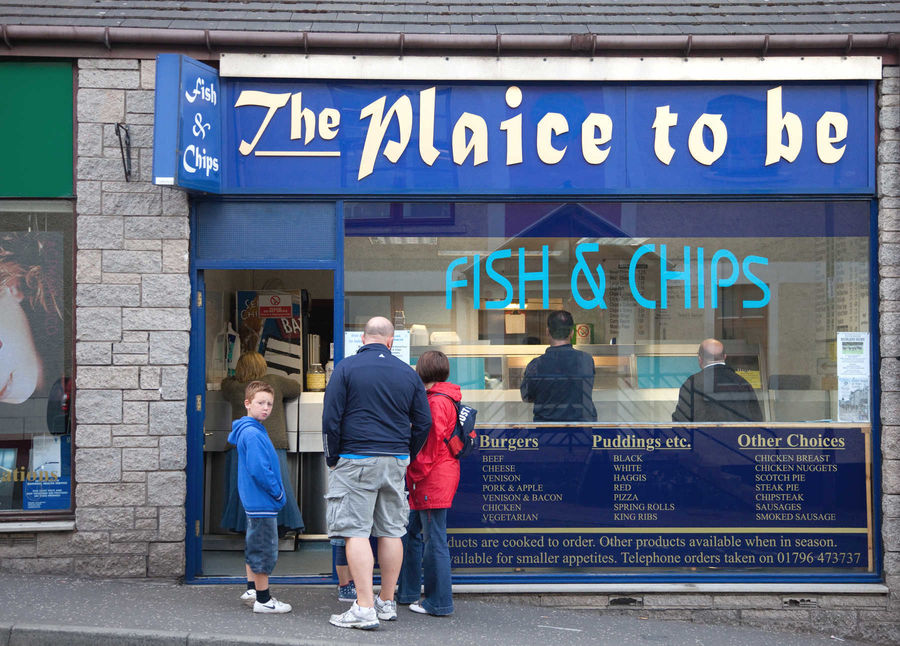 Chippy in Pitlochry, Scotland