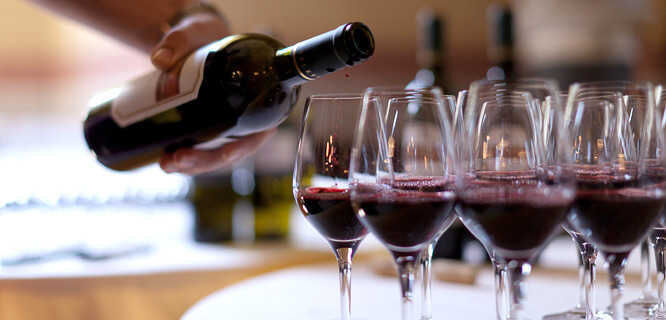 Wine tasting session, Orvieto, Italy