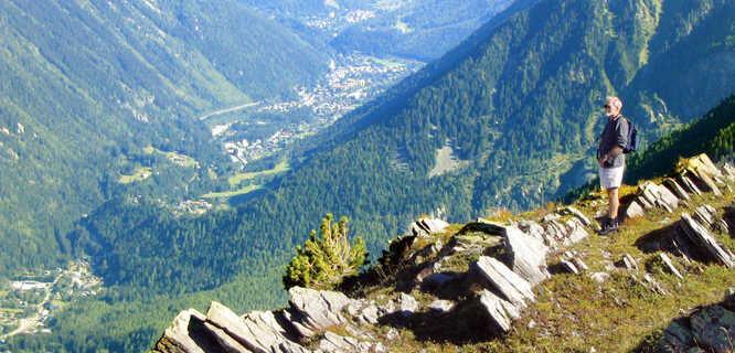 Above Chamonix, France
