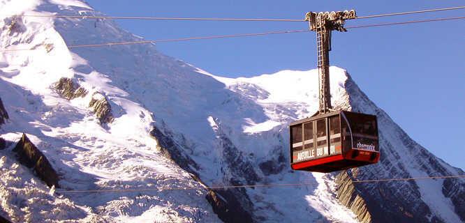 Aiguille du Midi cable car, Chamonix, France
