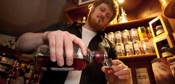 Whisky tasting, Edinburgh, Scotland