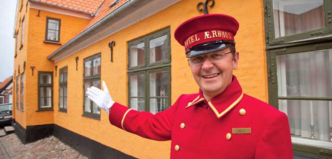 Hotel staffer, Ærøskøbing, Denmark