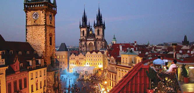 Old Town Square and Týn Church, Prague, Czech Republic