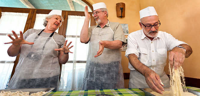 Cooking class in Chianciano Terme, Italy