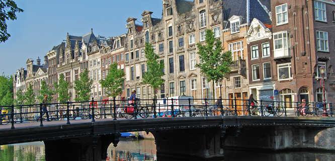 Canal bridge, Amsterdam, Netherlands