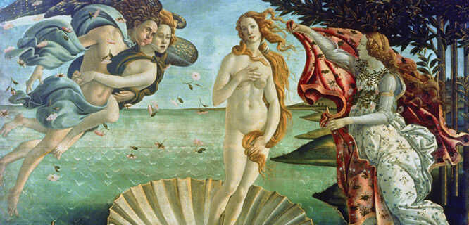 'Birth of Venus' (Botticelli), Uffizi Gallery, Florence, Italy
