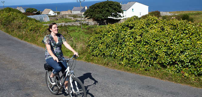 Biking on Inishmore, Aran Islands, Ireland