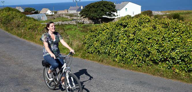 Biking on Inishmore, Aran Islands, Ireland