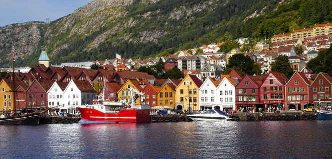 Bryggen waterfront, Bergen, Norway