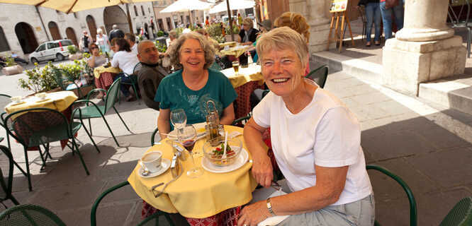 Café lunch, Assisi, Italy