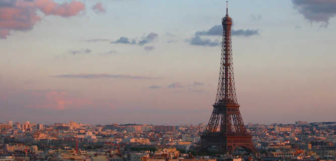 Eiffel Tower and Parisian skyline, Paris, France