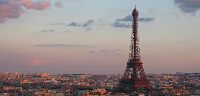 Eiffel Tower and Parisian skyline, Paris, France
