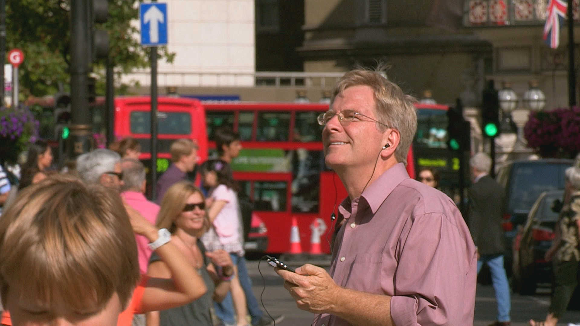 Rick Steves uses his audio walking tour of London