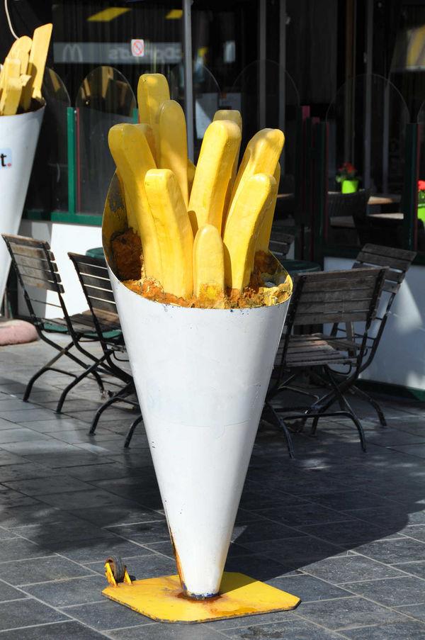 Big frites, Bruges, Belgium