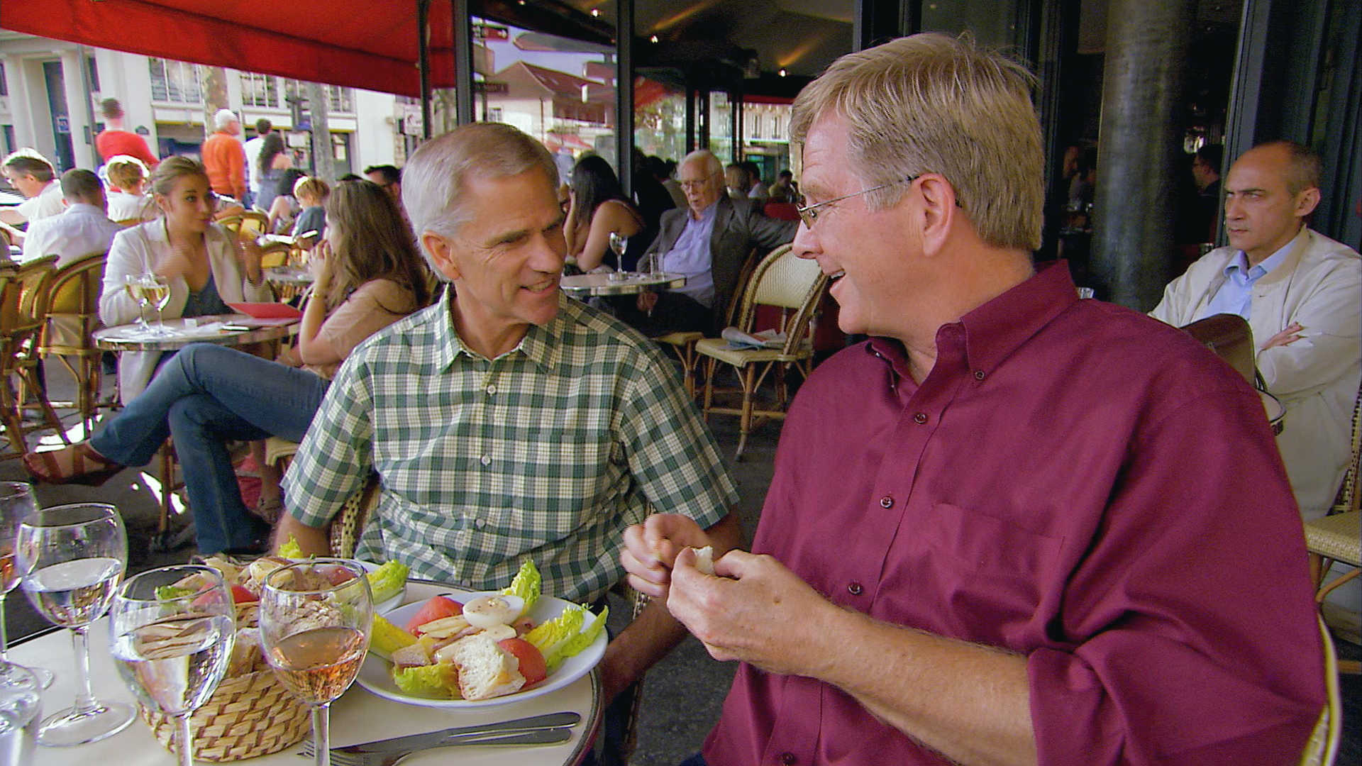 Steve Smith dines with Rick Steves