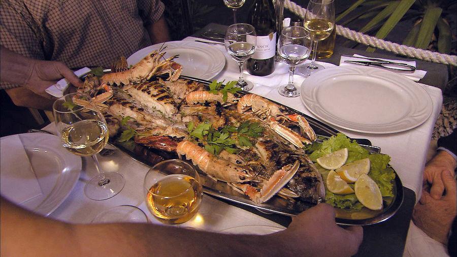 Seafood dinner, Dalmatian Coast, Croatia