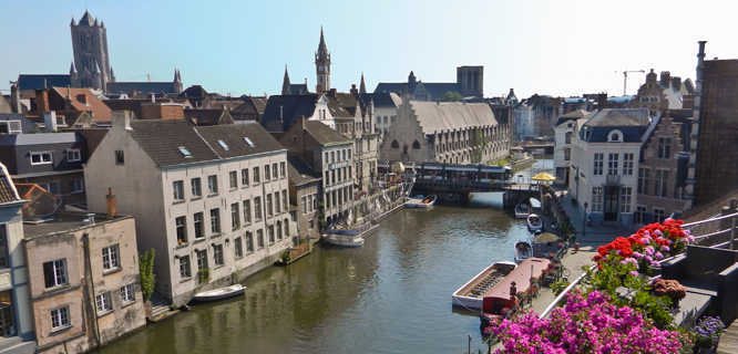 Belgium holland tour ghent canal