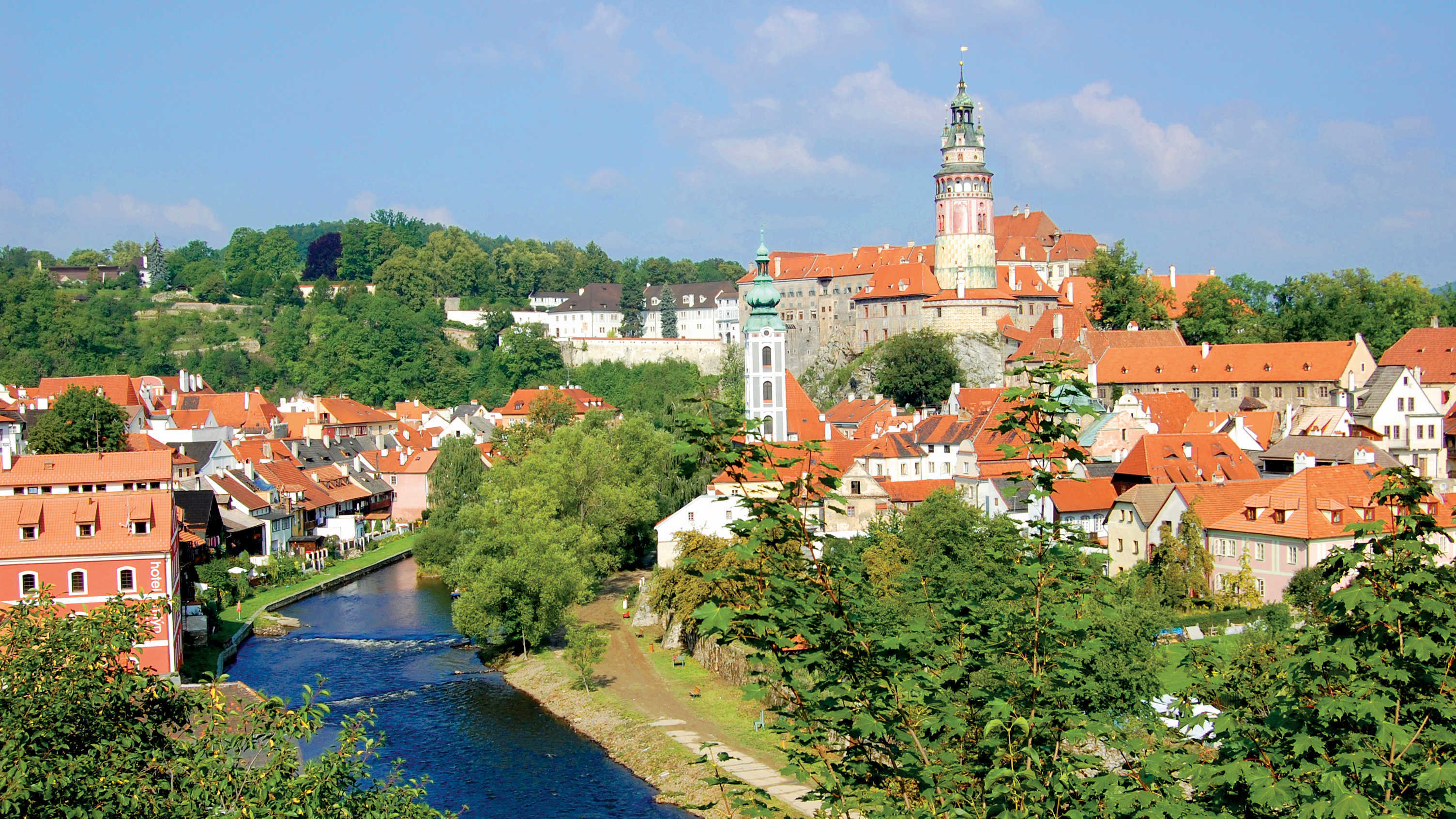 View over Cesky Krumlov, Czech Republic