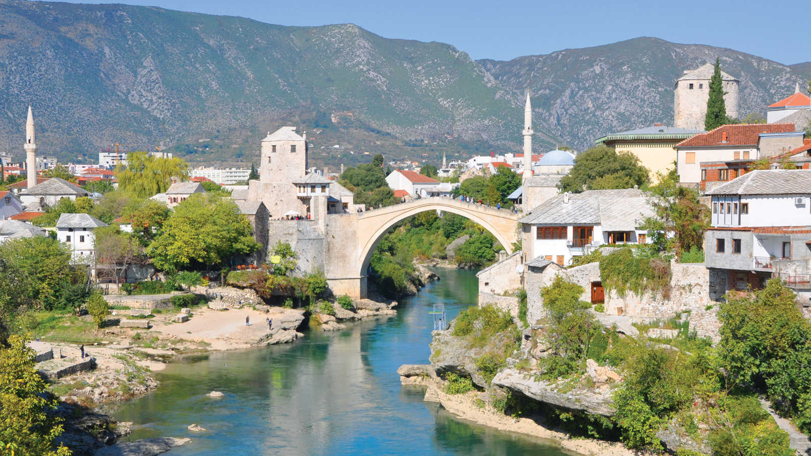 The rebuilt bridge in Mostar, Bosnia-Herzegovina