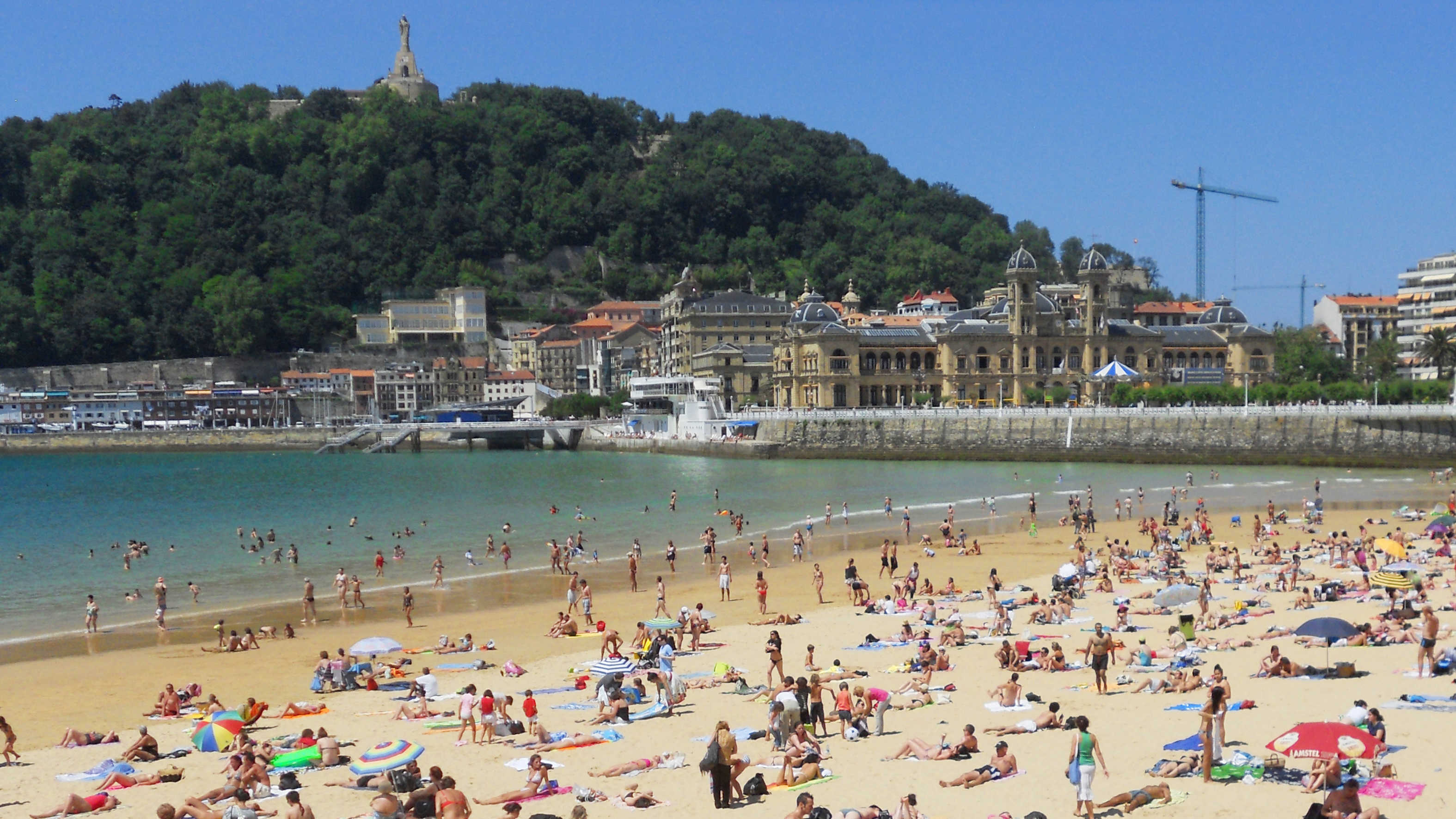 The beach in San Sebastian, Spain