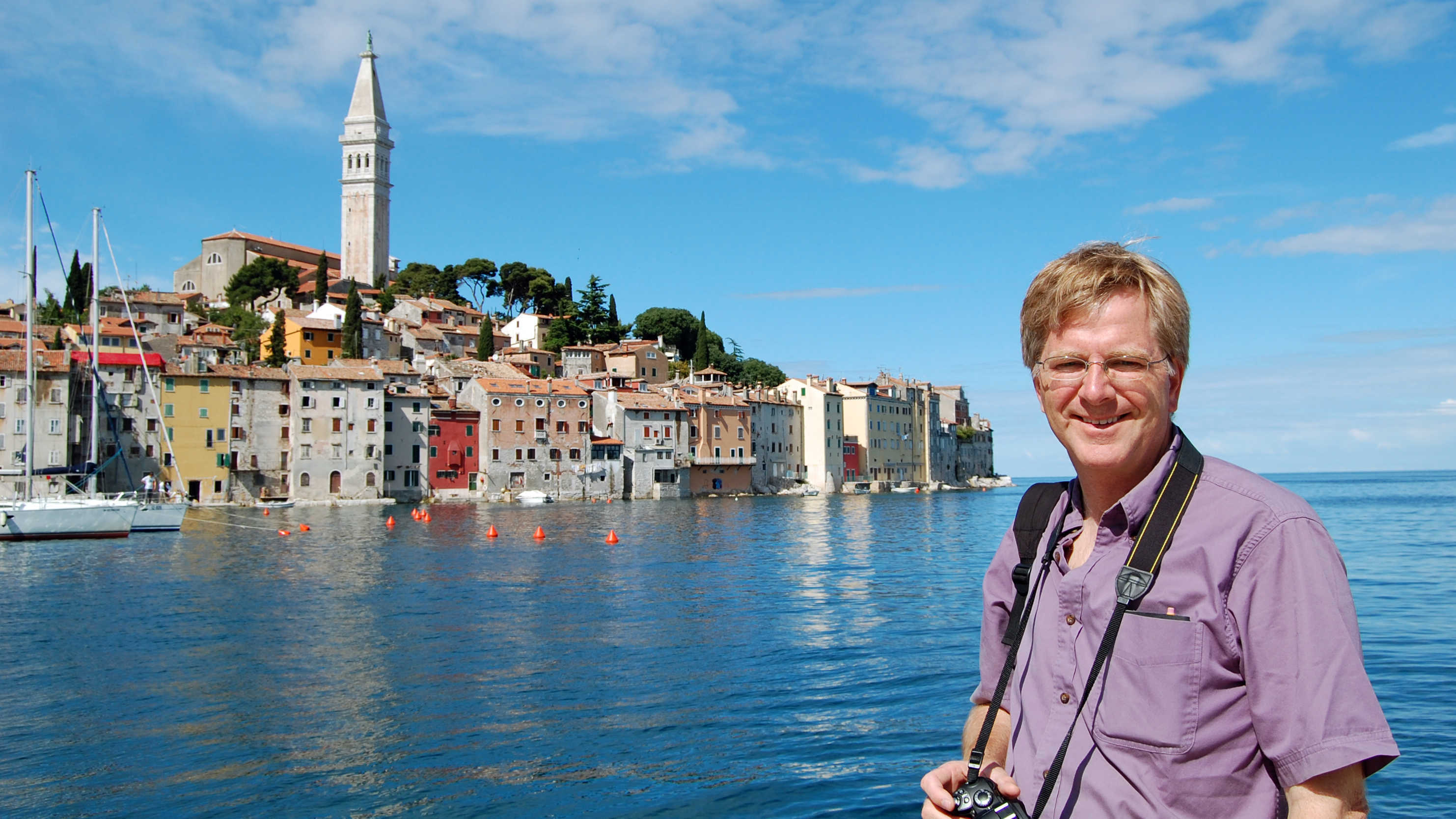 Rick Steves in Rovinj, Croatia