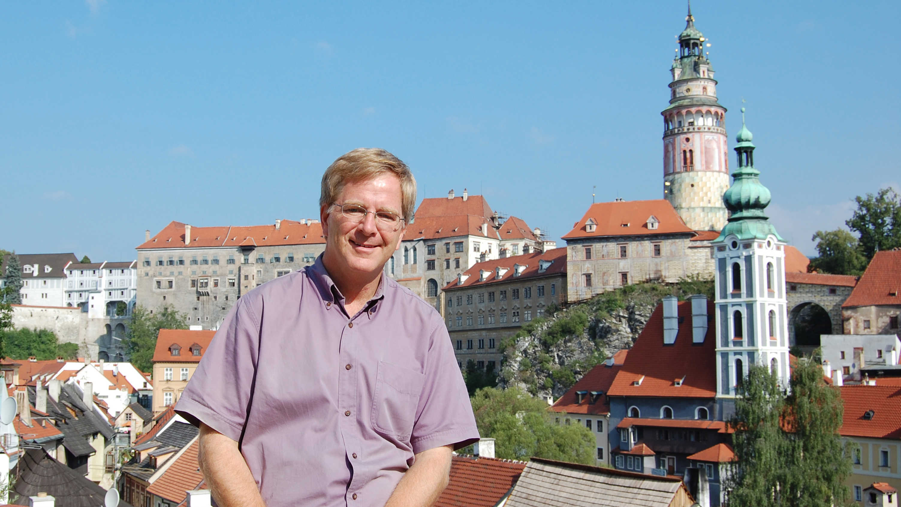 Rick Steves in Cesky Krumlov, Czech Republic