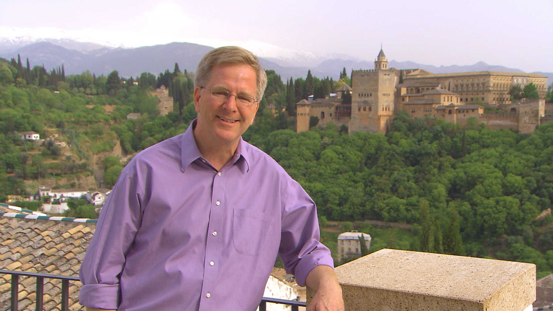 Rick Steves poses in Granada