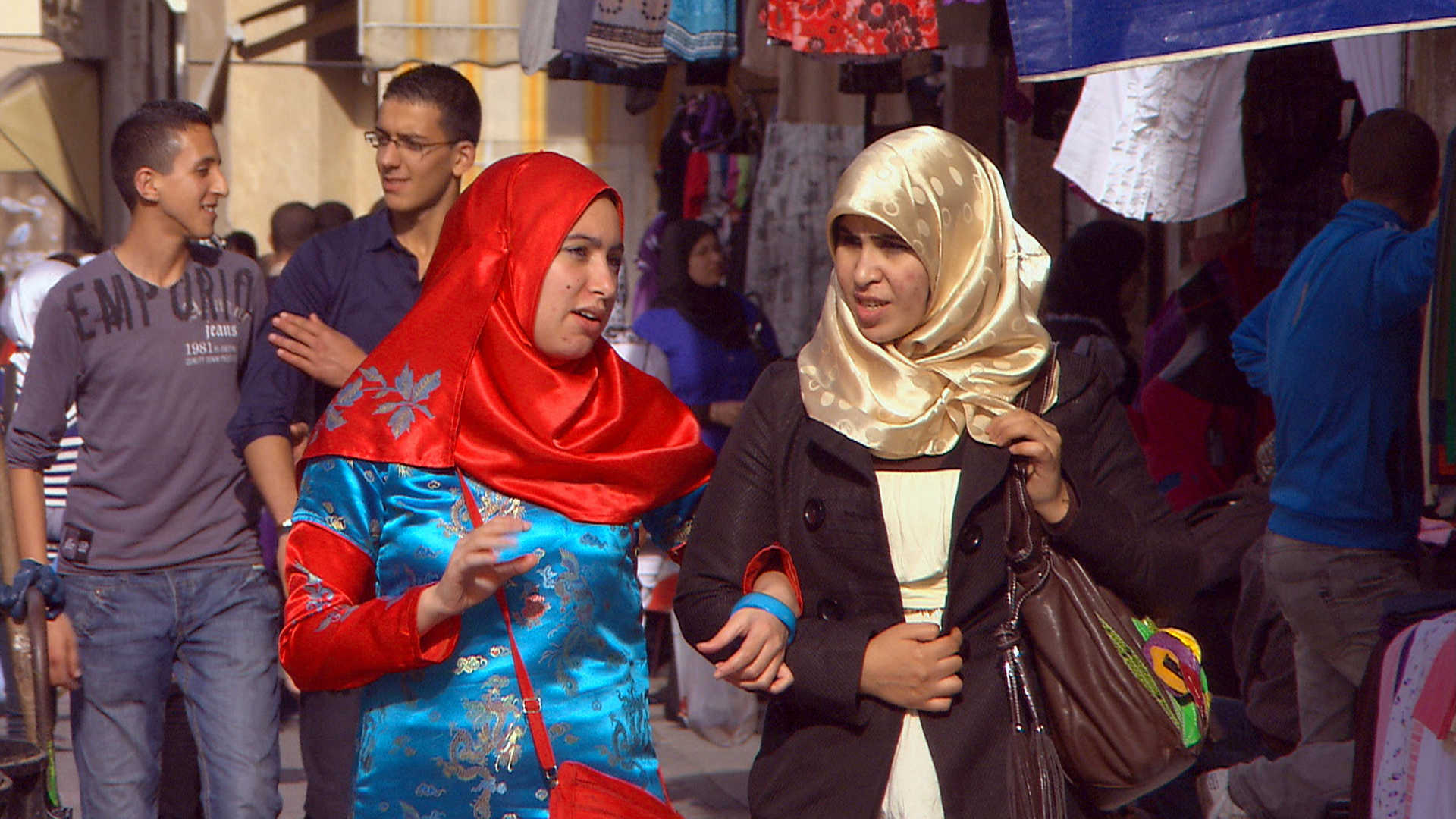 Women in the streets of Tangier