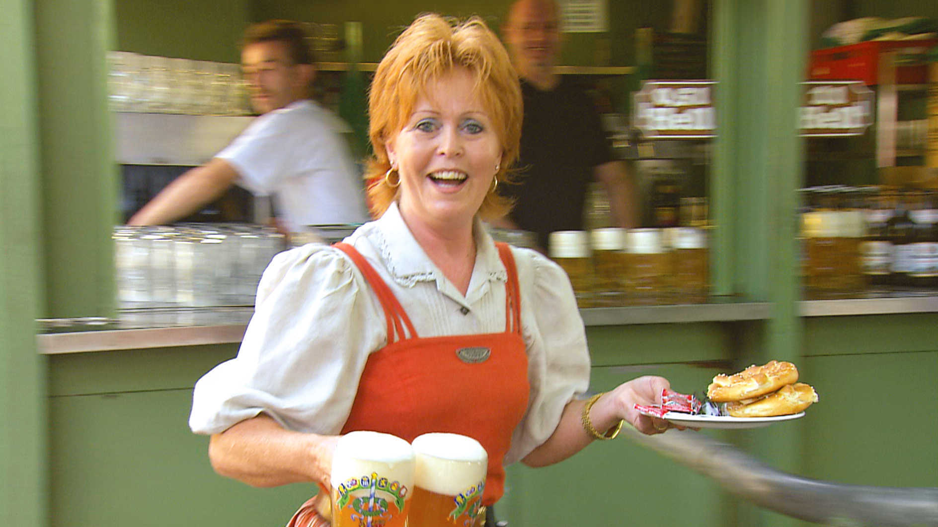 Barmaid in Munich, Germany