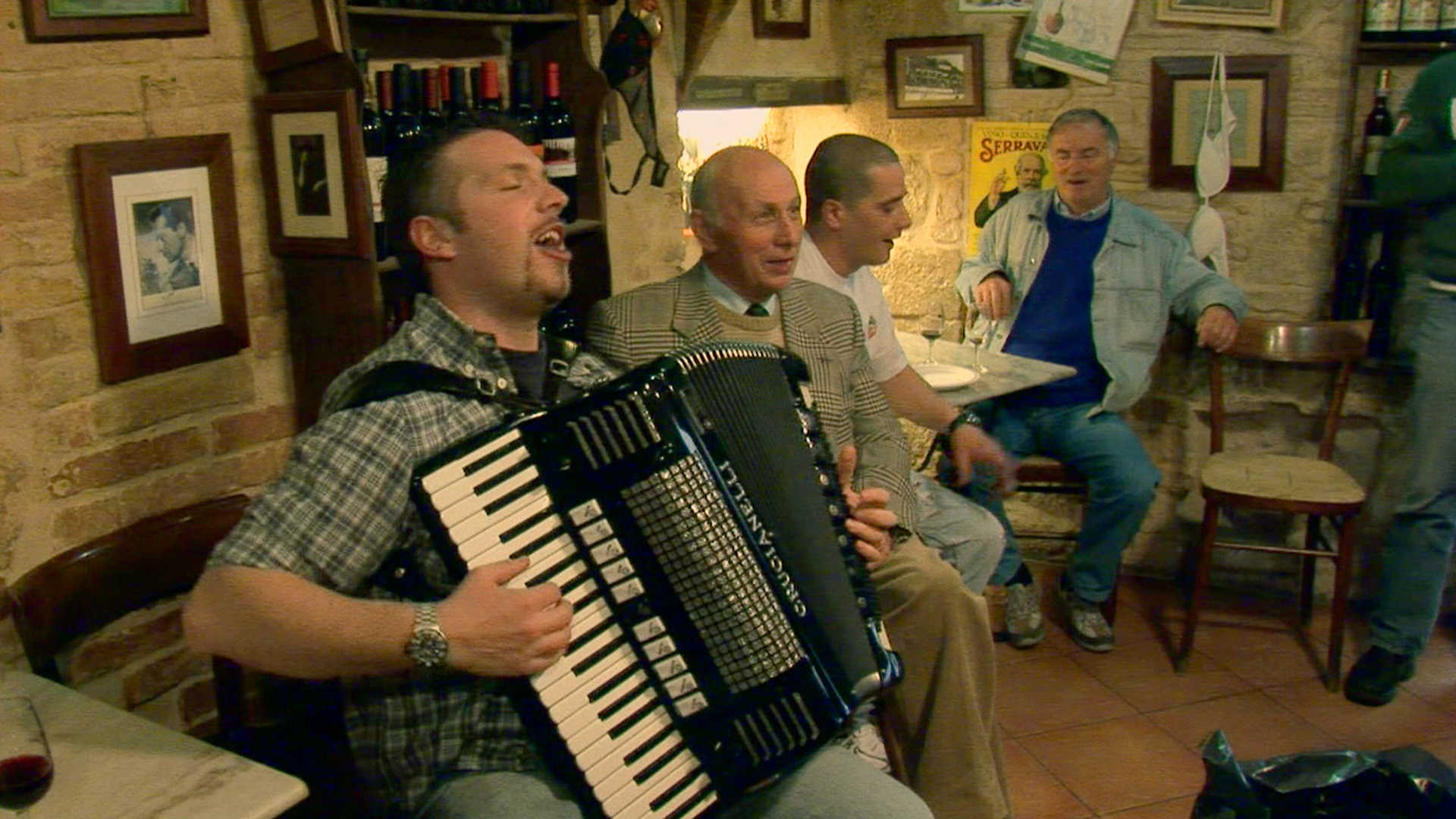 An accordion player in Italy