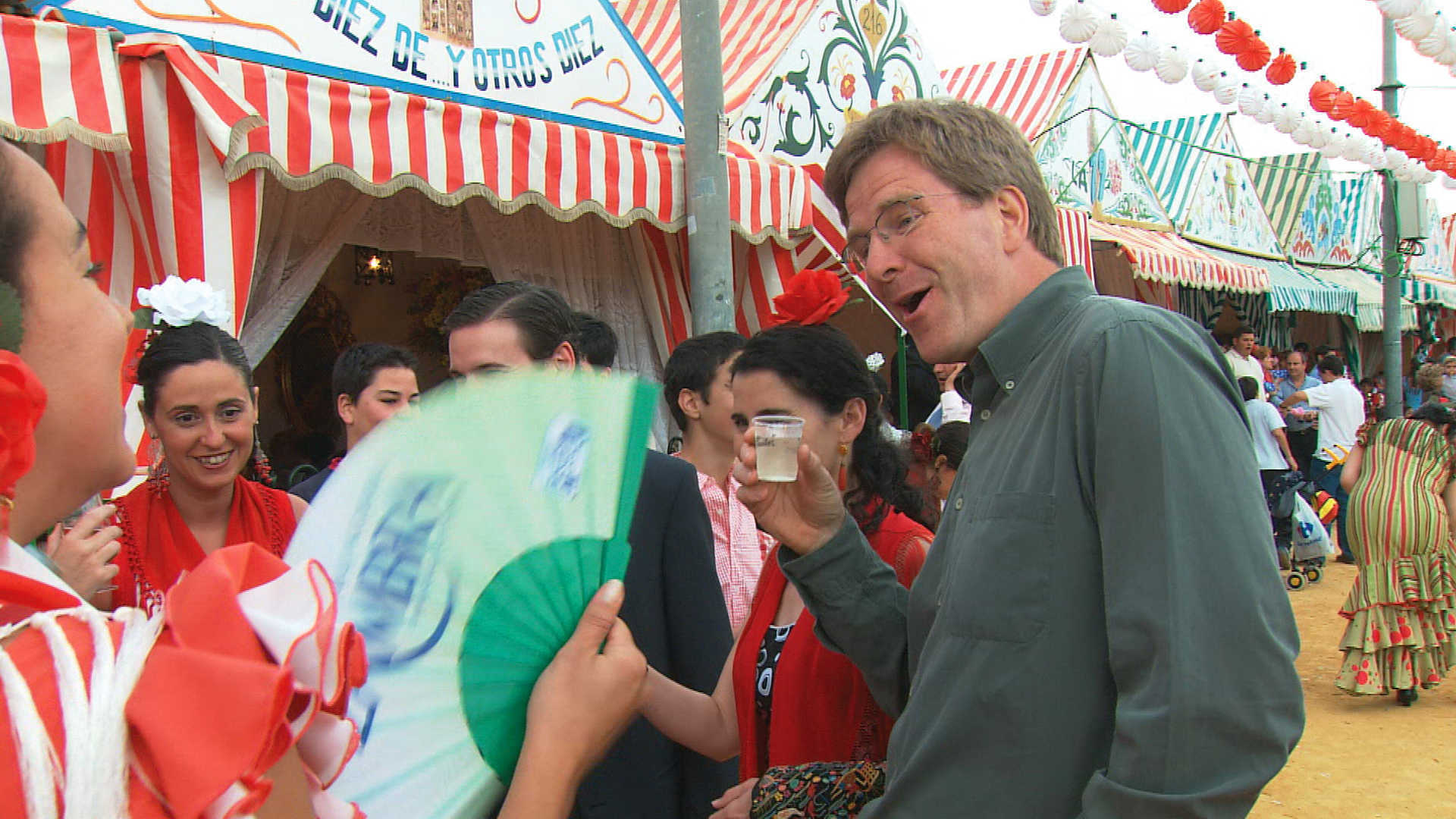 Rick Steves at the festival of San Fermin