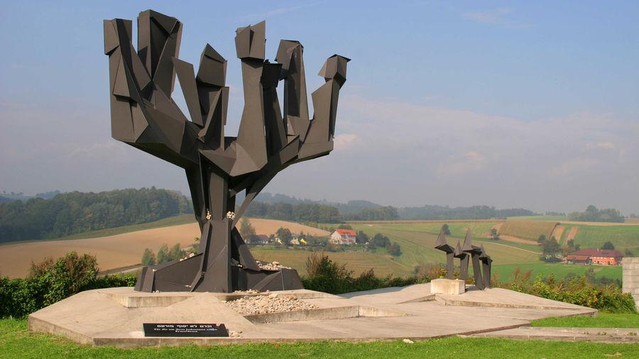 Jewish monument, Mauthausen Memorial, Mauthausen, Austria
