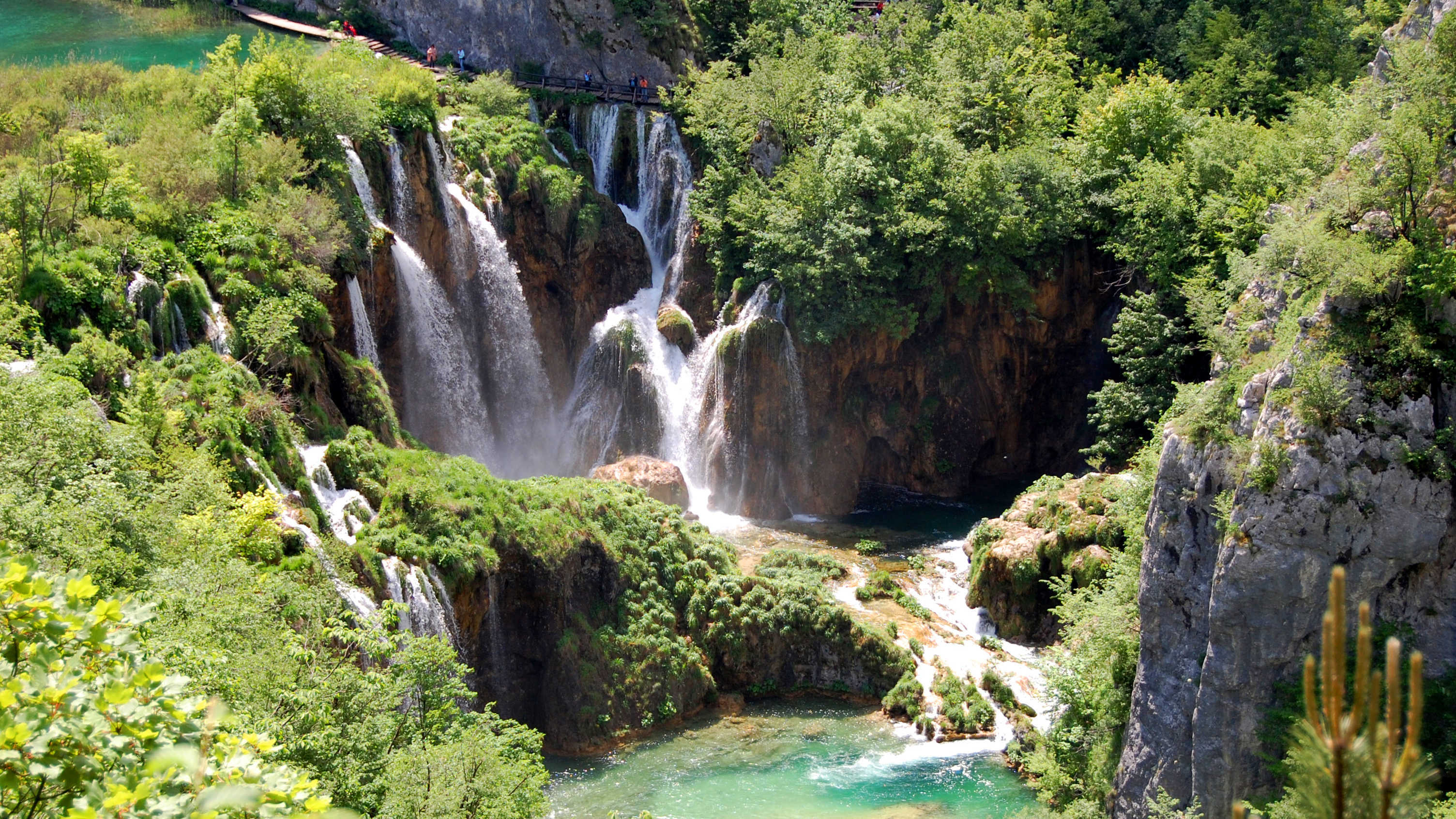 The waterfalls at Plitvice Lakes National Park