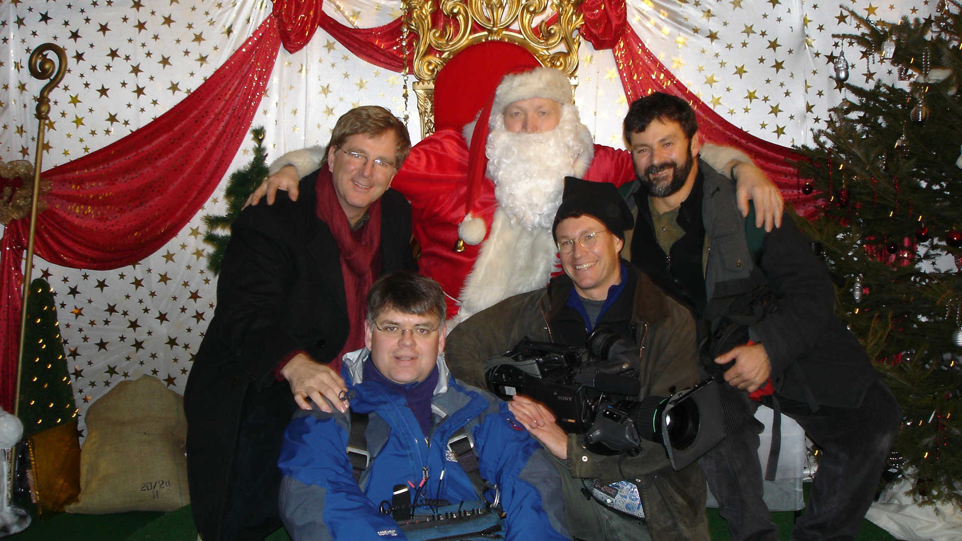 Rick & the crew with Santa