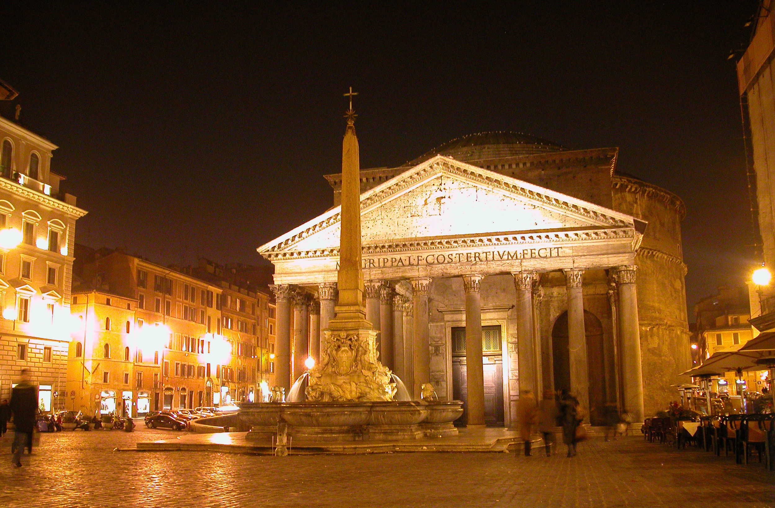The floodlit Pantheon