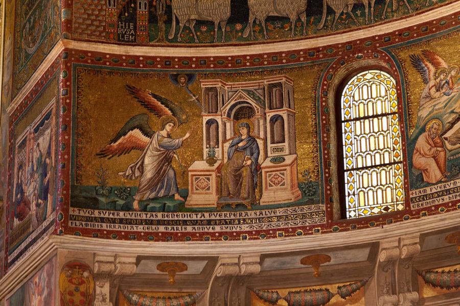 Mosaics inside Basilica of Santa Maria in Trastevere, Rome, Italy