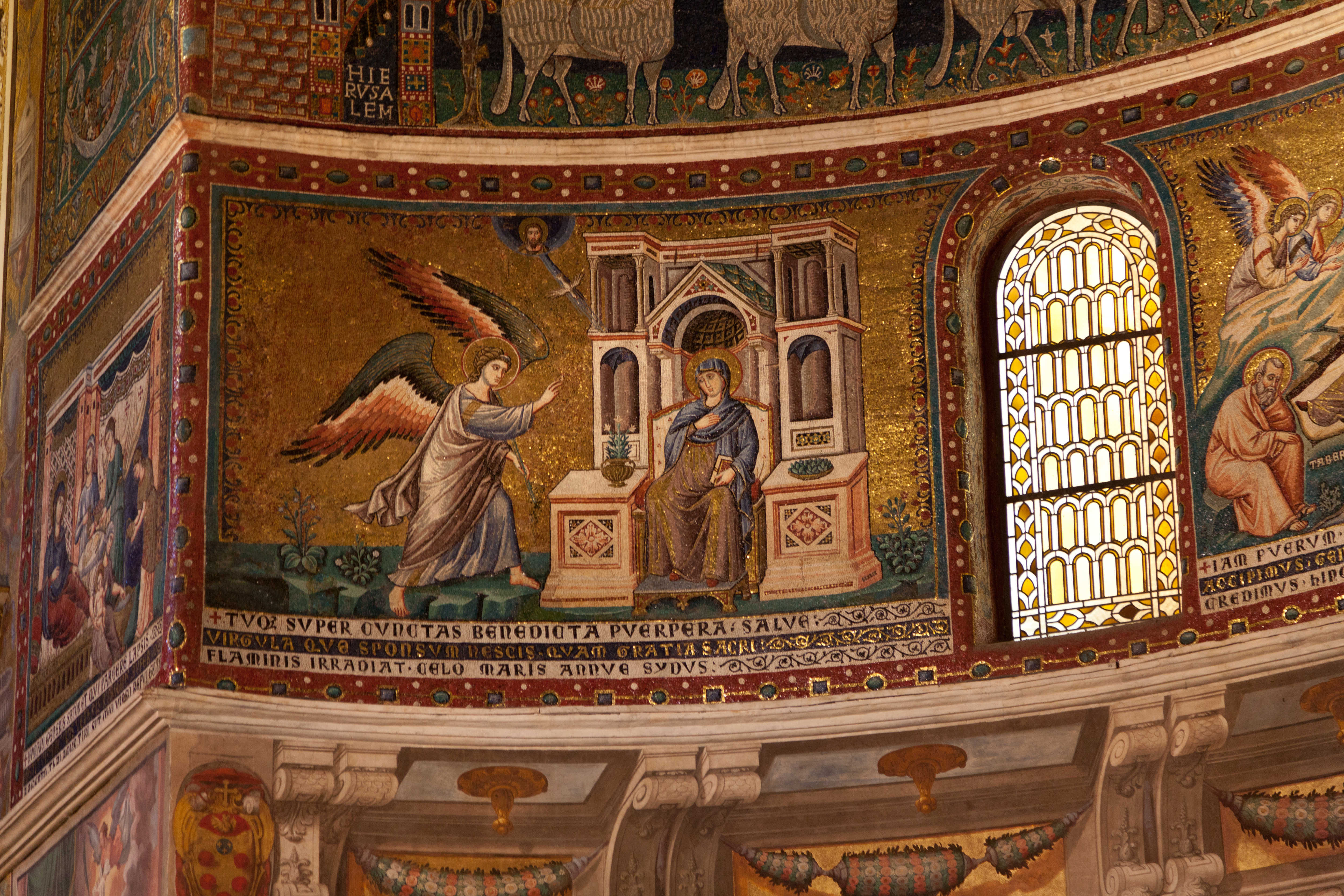 Mosaics in the Church of Santa Maria in Trastevere