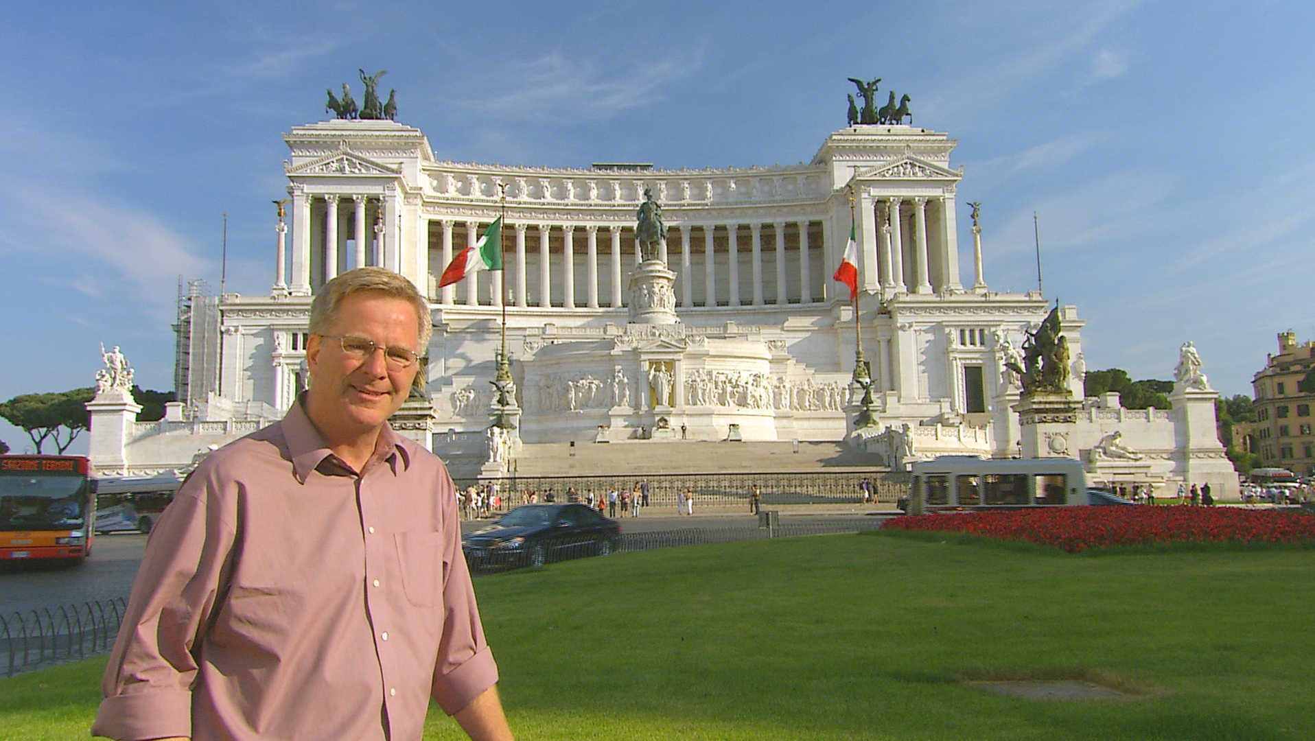 Rick at the Victor Emmanuel monument