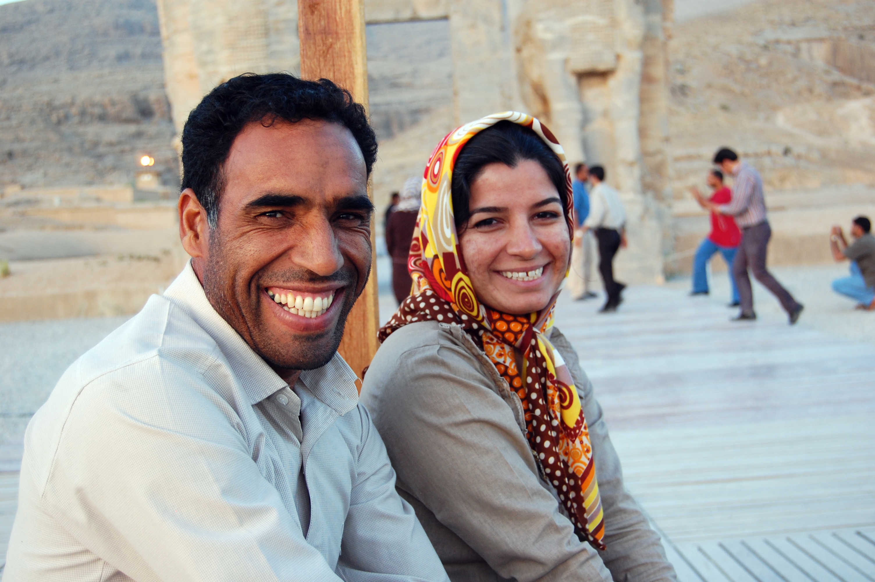 A couple visiting Persepolis