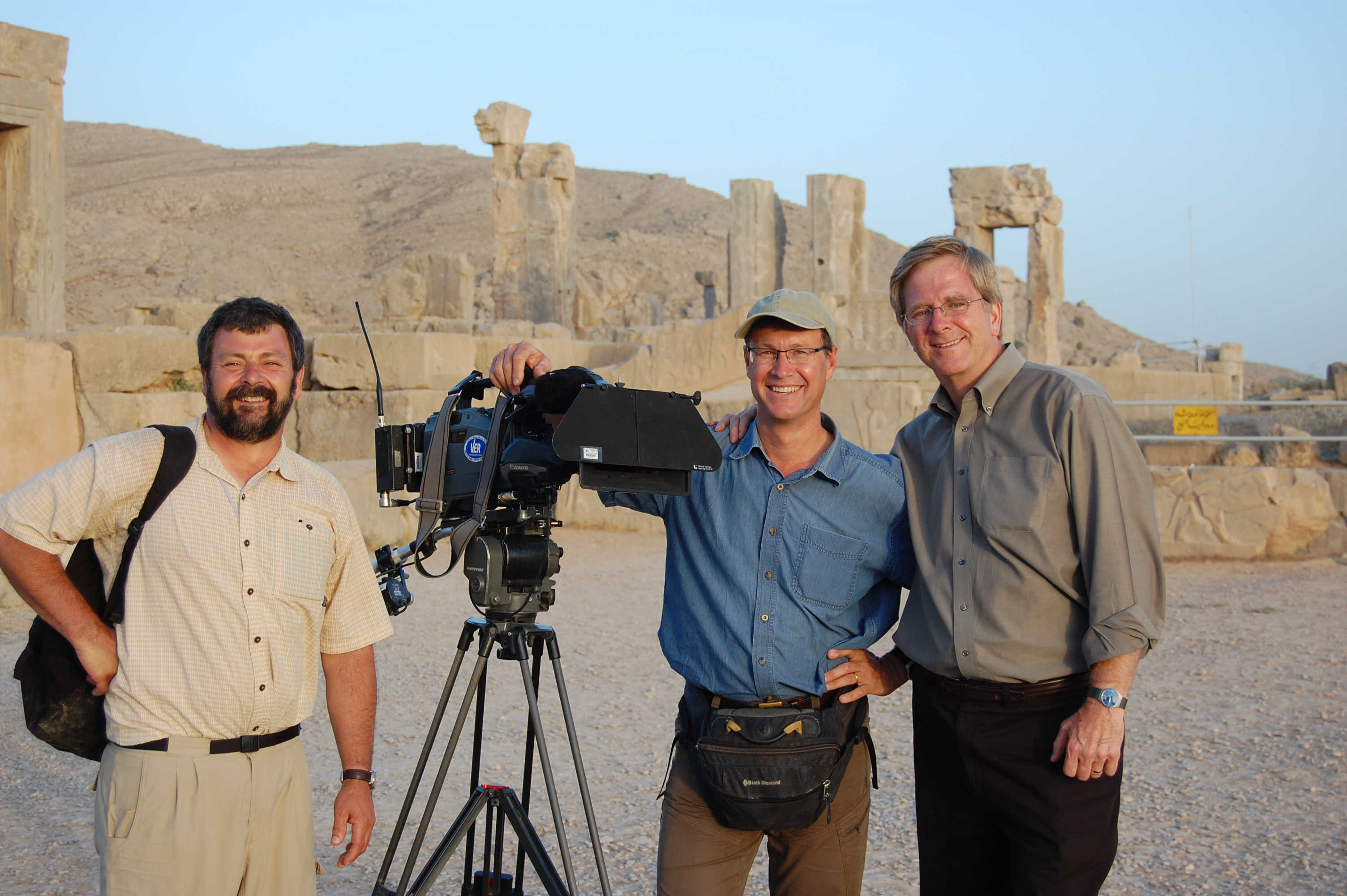 Filming on location in Persepolis