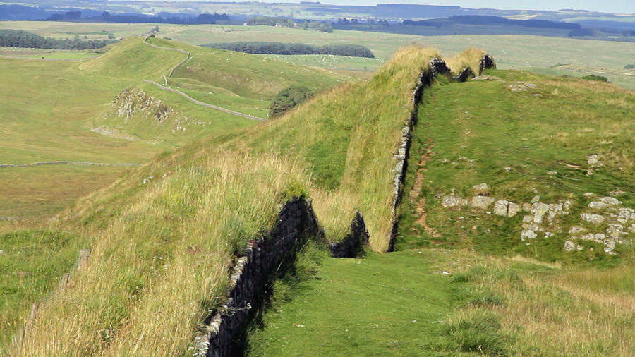 Hadrian's Wall, near Housesteads Roman Fort, Northumberland, England