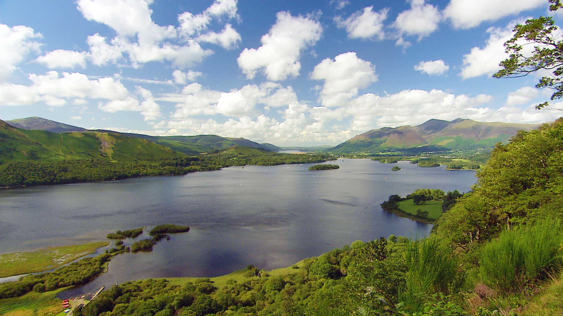 North England: Derwentwater in the Lake District