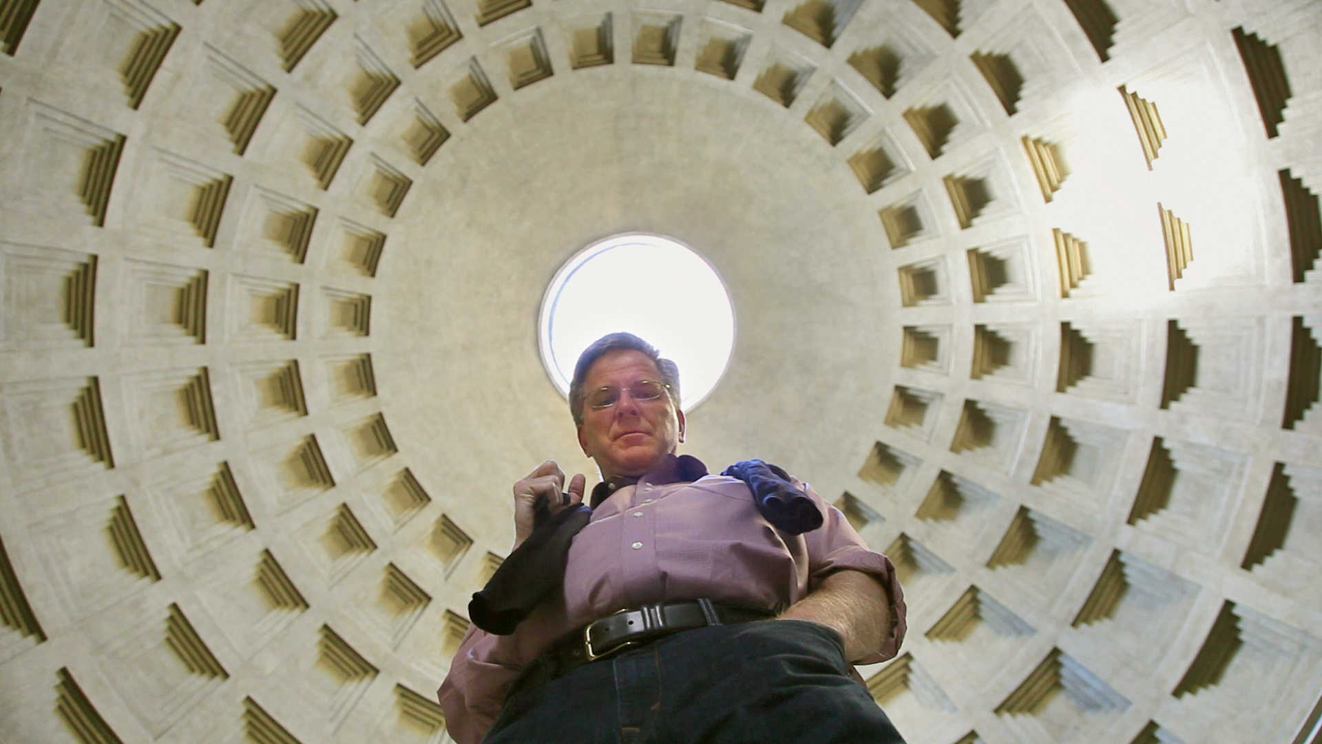Rome: Rick Steves beneath the Oculus of the Pantheon